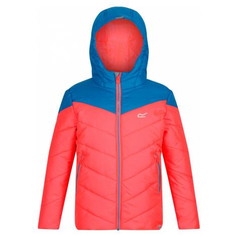 Dětská zimní bunda Regatta LOFTHOUSE III oranžová/modrá