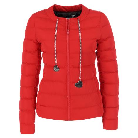Červená zimní bunda LOVE MOSCHINO