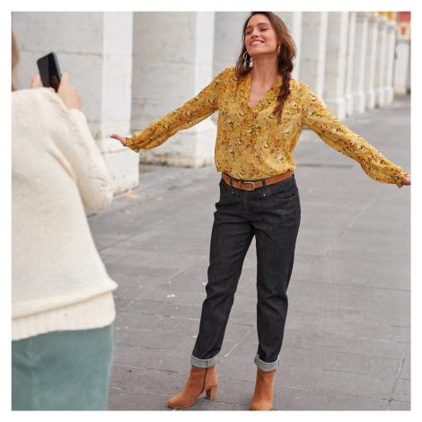 Blancheporte Strečové mom džíny s vysokým pasem černá