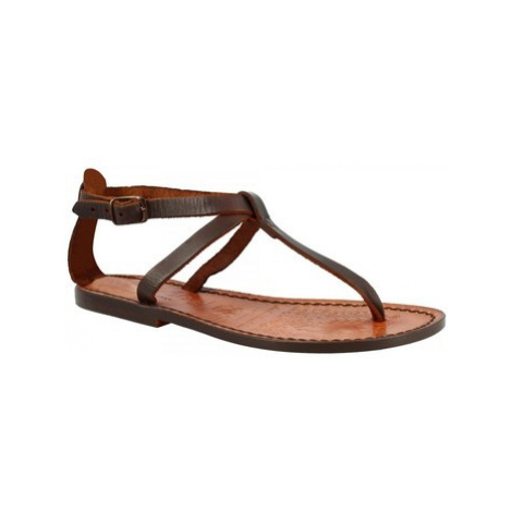 Leonardo Shoes 582 T. MORO Hnědá