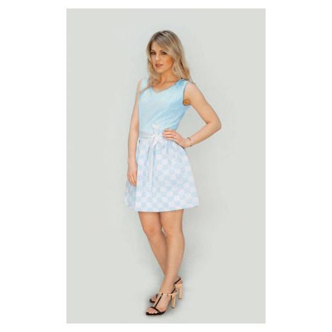 Světle modré rozšířené šaty (3054/2) modrá