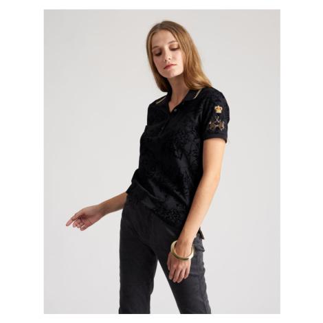 Polokošile La Martina Woman Polo Short Sleeve Piquet - Černá