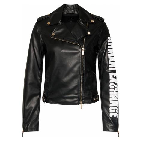 Černá bunda kožená - ARMANI EXCHANGE