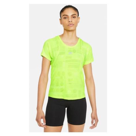 Dámské běžecké tričko Nike Air Dri-FIT Žlutá