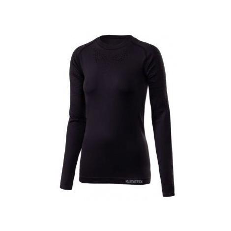 Klimatex PIGGI černá - Dámské bezešvé termo triko s dlouhým rukávem