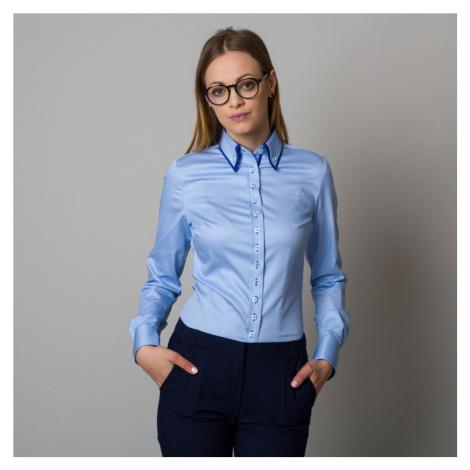Dámská košile světle modrá s kontrastními prvky 12397 Willsoor