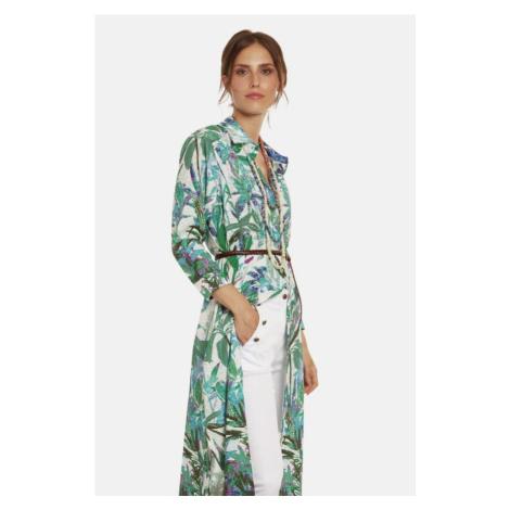 Šaty La Martina Woman Long Dress Printed Cotto - Různobarevná