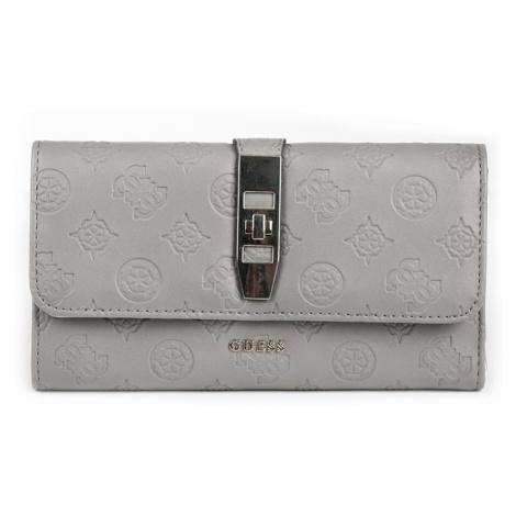 Guess dámská šedá velká peněženka se vzorem
