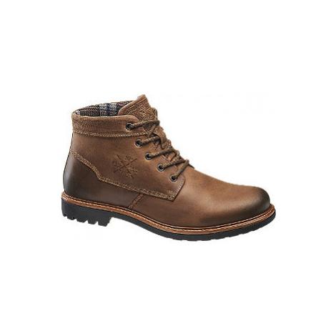 Hnědá kožená kotníková obuv AM Shoe