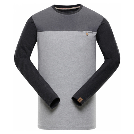 ALPINE PRO PERKOS 4 Pánské triko s dlouhým rukávem MTSN360773PB šedá