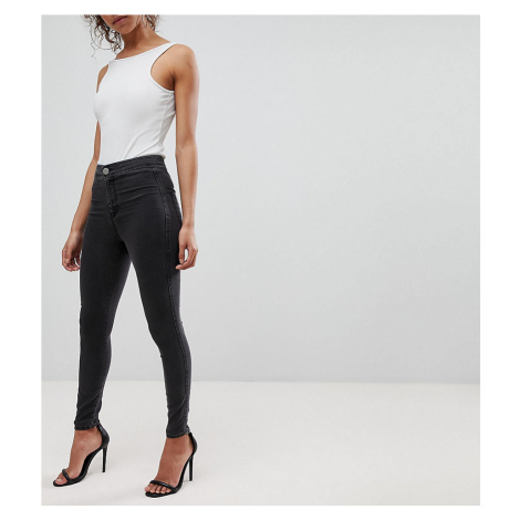 ASOS DESIGN Petite Rivington high waisted denim jeggings in washed black