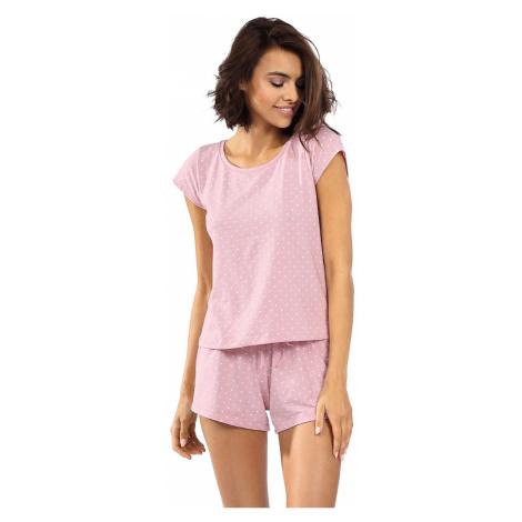 Světle růžové bavlněné krátké pyžamo Cecile Lorin