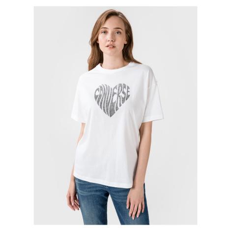 Tričko Converse Womens Heart Reverse Print Tee Bílá