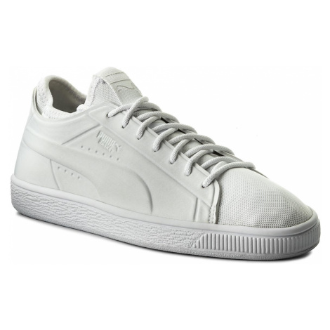 Sneakersy PUMA - Basket Classic Sock Lo 365370 02 Puma Wht/Puma Wht/Puma Wht