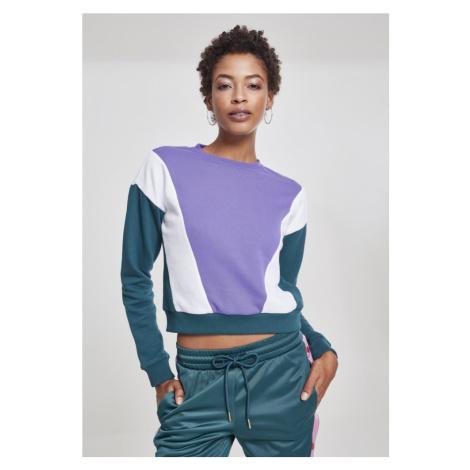 Ladies 3-Tone Arrow Crew - ultraviolet/jasper/white
