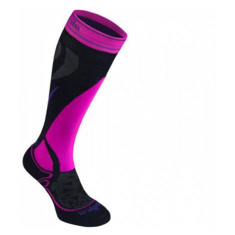 Dámské ponožky Bridgedale Ski Midweight black/fluro pink/077