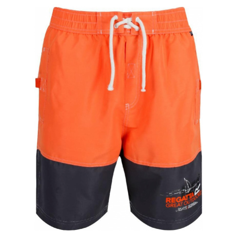 Sportovní plavky/šortky REGATTA RMM010 Bratchmar III Oranžové