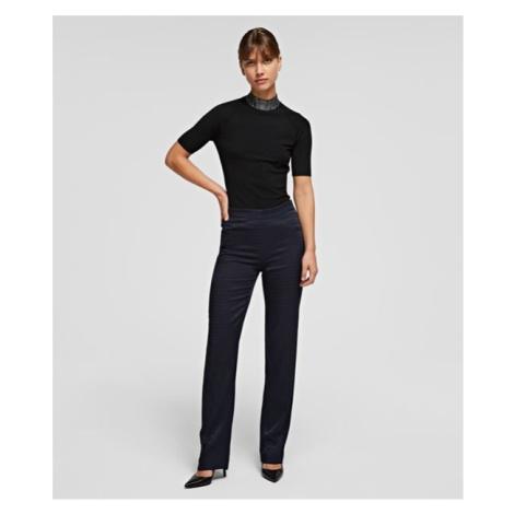 Kalhoty Karl Lagerfeld Cameo Logo Pants - Modrá