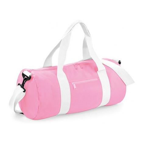 Barel taška BB - růžová/bílá
