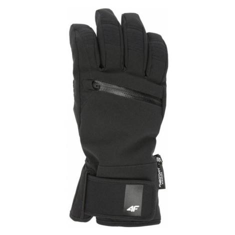 Dámské lyžařské rukavice H4Z19-RED004-20S DEEP BLACK 4F