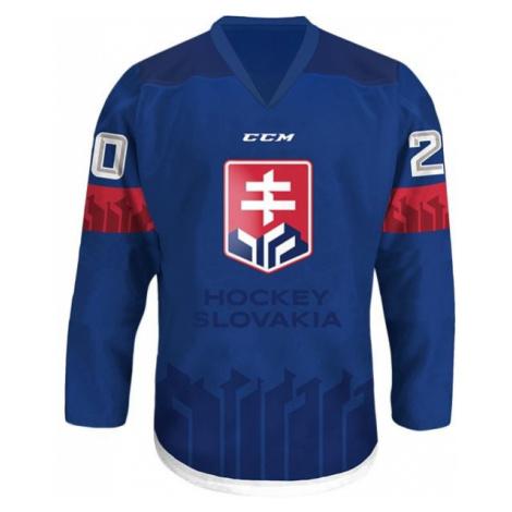 CCM DRES S VÝŠIVKOU LOGO SZLH 18/19 modrá - Hokejový dres