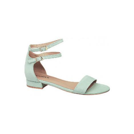Mátové kožené sandály Wojas