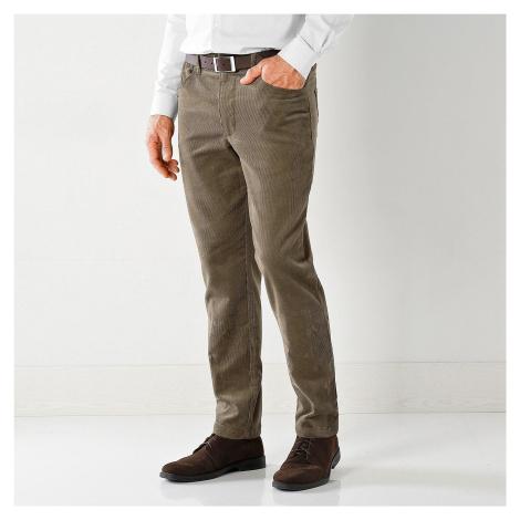 Blancheporte Manšestrové kalhoty, 5 kapes hnědošedá