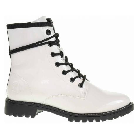 S.Oliver Dámská kotníková obuv 5-25219-25 white patent Bílá