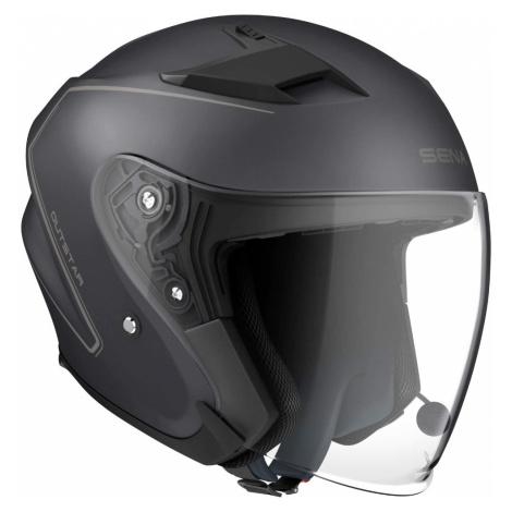 Moto Přilba Sena Outstar S Integrovaným Headsetem Matně Černá
