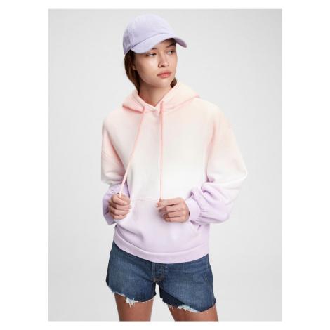 GAP fialová dámská mikina vintage soft balloon sleeve hoodie