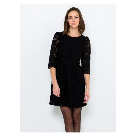 Černé krajkové šaty CAMAIEU - L Camaïeu