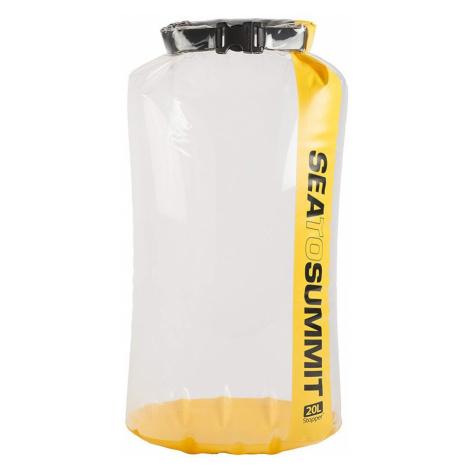Voděodolný vak Sea to Summit Stopper Clear Dry Bag 20L Barva: žlutá