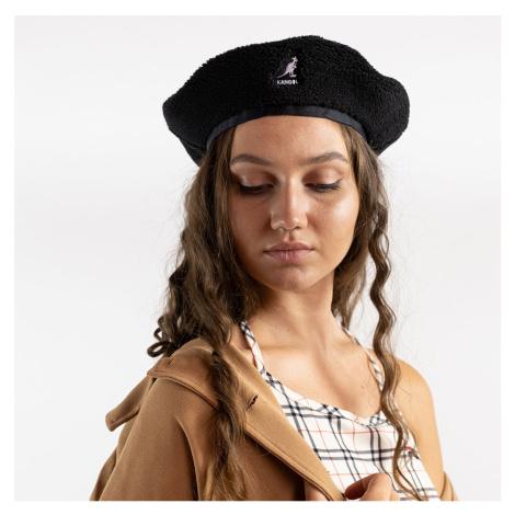 Černý baret Plush Beret Kangol