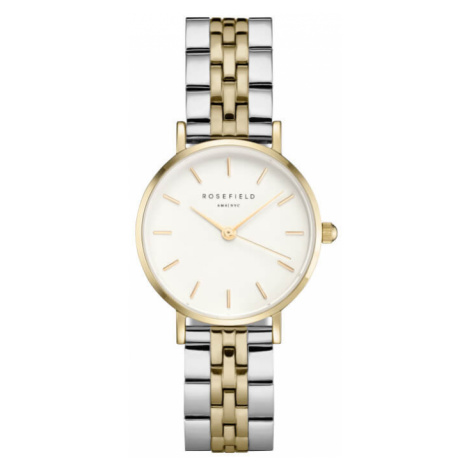 Rosefield The Small Edit White Steel Silver Gold Duo 26mm