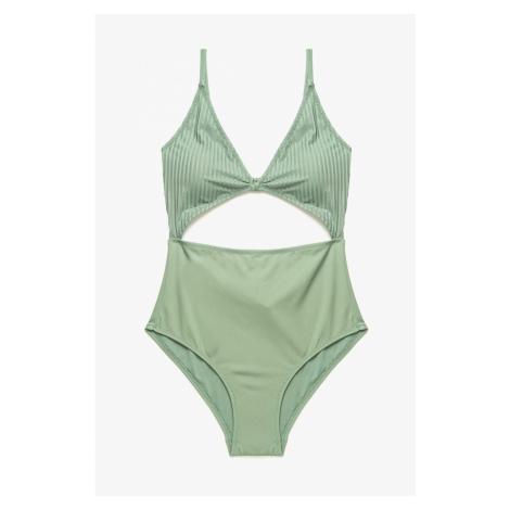 Koton Women's Green Underwire Swimsuit