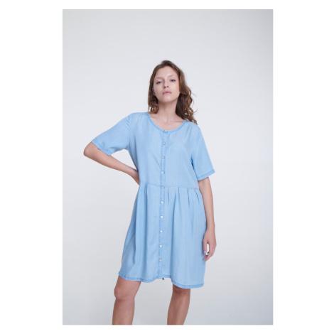 Big Star Woman's Dress 340069 Light Jeans-198