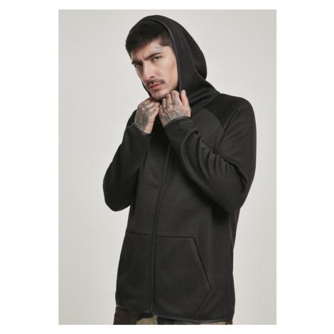 Knit Fleece Zip Hoody - black Urban Classics