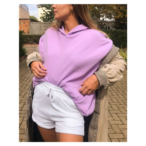 ASOS DESIGN super oversized cocoon hoodie with side pockets in lilac-Purple