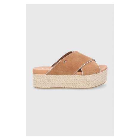 Tommy Jeans - Semišové pantofle