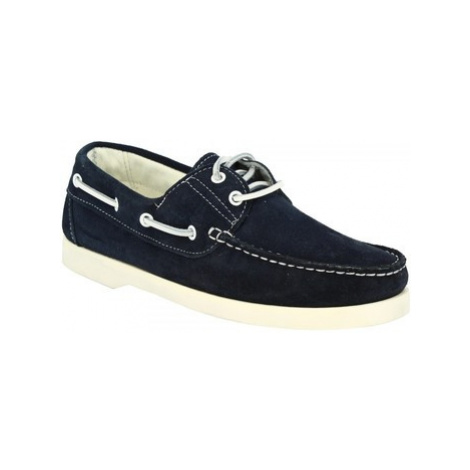 Leonardo Shoes C04 CAMOSCIO BLU Modrá
