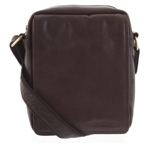 Pánská kožená taška tmavě hnědá - SendiDesign Lorem Sendi Design
