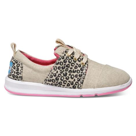 Leopard Linen Youth Del Rey Sneak Toms