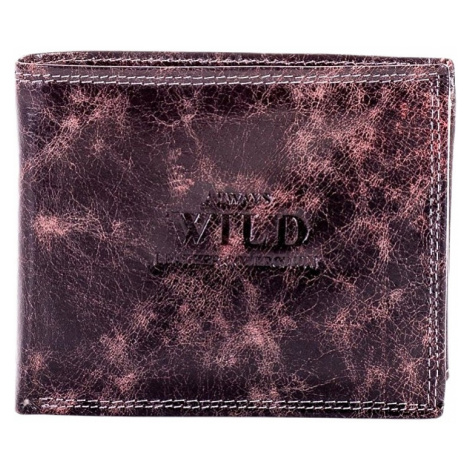 Tmavě hnědá pánská vzorovaná peněženka Rovicky