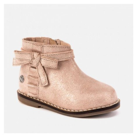 Kožená, kotníková obuv MAYORAL 42018 | růžová
