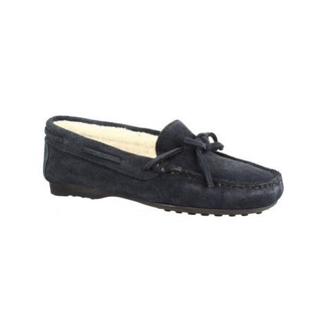 Leonardo Shoes 158 CAMOSCIO BLU DONNA Modrá