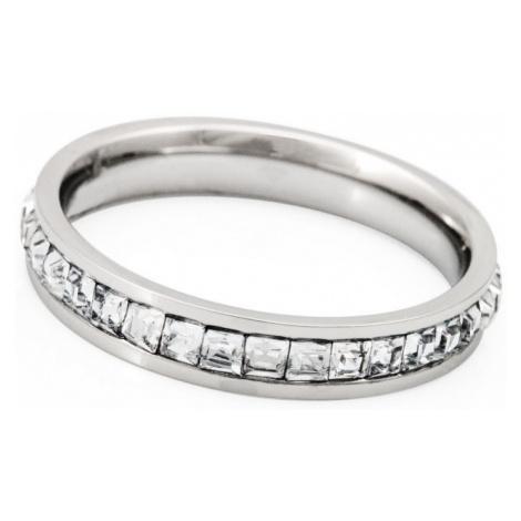 Linda's Jewelry Prsten Shiny Krystal chirurgická ocel IPR035 Velikost: 54