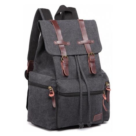 Černý praktický kvalitní batoh Gotlen Lulu Bags
