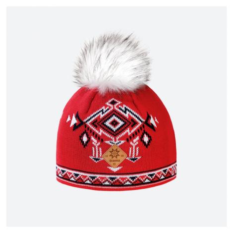 Kama A 139 -104 pletená merino čepice červená