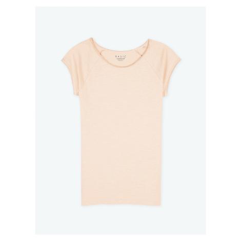 GATE Jednoduché žerzejové tričko s krátkým rukávem