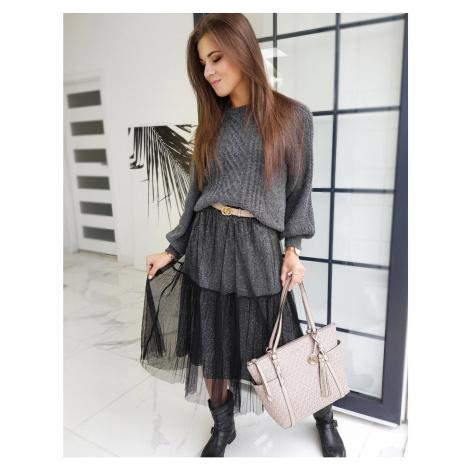 MAXI BETTY TULLE skirt black CY0285 DStreet